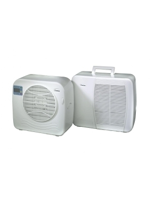 Split air conditioner for caravans, campers and holiday homes.
