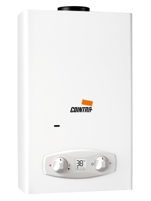 New! Cointra Optima COB-11 Db, propane instantaneuous water heater for indoor use. 18,9 kW 11 liter per minute. Suitable for multiple taps.Digital display