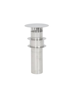Stainless steel flue set 90mm. Roof gland. (TTulpe Indoor B-6)