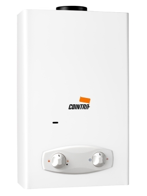 Cointra Optima COB-10p, propane instantaneuous water heater for indoor use. 17.8 kW 10 liter per minute. Suitable for multiple taps. Best seller!